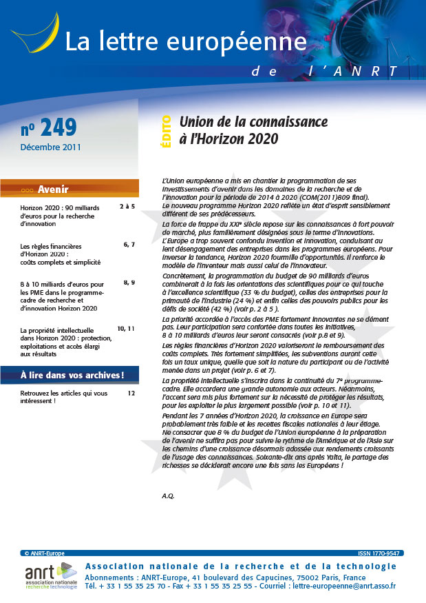 LEA 249 sommaire