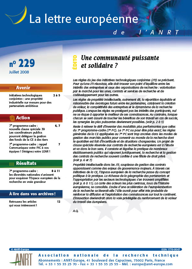 LEA 229 sommaire