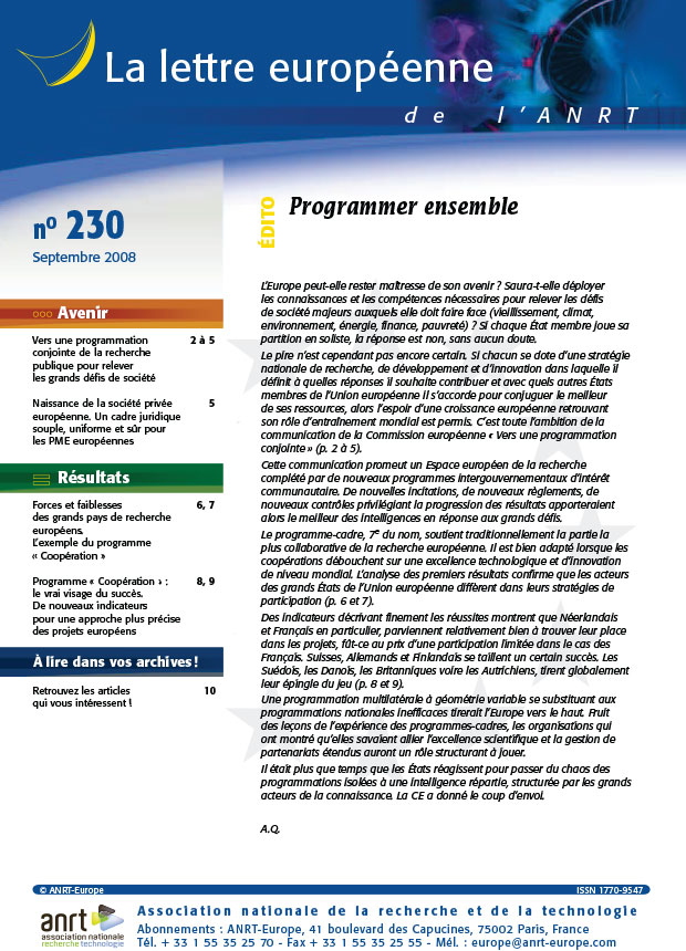 LEA 230 sommaire