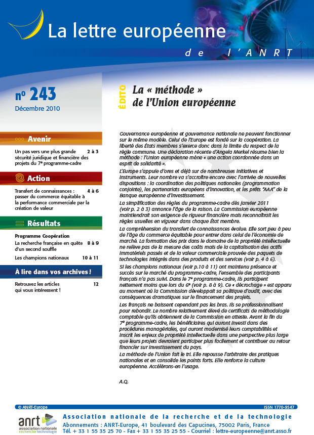 LEA 243 sommaire